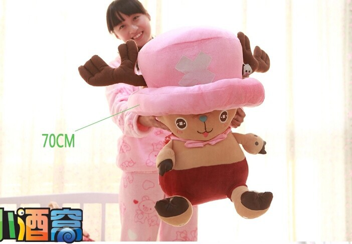 One Piece 70 CM Tony Tony Chopper plush toy chopper doll throw pillow gift w4017 lovely giant panda about 70cm plush toy t shirt dress panda doll soft throw pillow christmas birthday gift x023