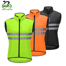 WOSAWE High Visibility Reflective Cycling Vest Sleeveless Breathable Men MTB Windproof Road Bike Clothing Wind Coat Safety Vest wosawe windproof cycling jackets men women riding waterproof cycle clothing bike long sleeve jerseys sleeveless vest wind coat