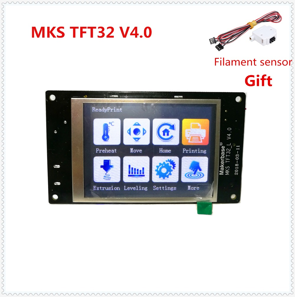 MKS TFT32 V4.0 pantalla táctil splash lcd controlador inteligente tocar TFT 32 pantalla RepRap monitor TFT creen lcd para 3D impresora