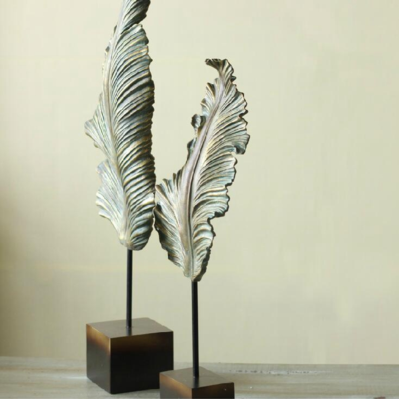 Home villa club leaf sculpture (2)
