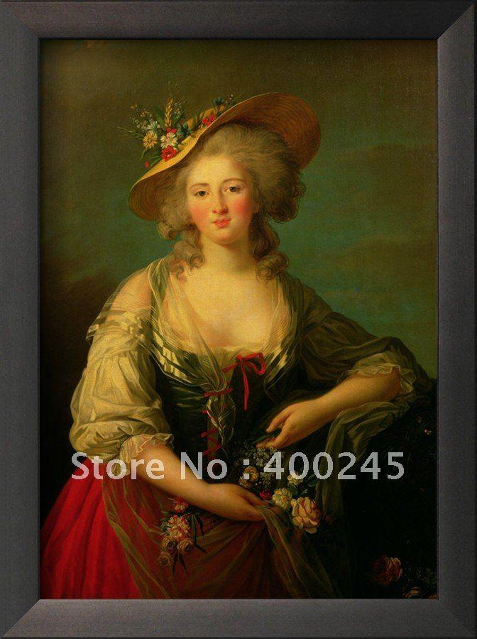 Портрет маслом картина маслом холст Elisabeth Франции(1764 94 называется мадам Элизабет Elisabeth Louise Виже lebrun
