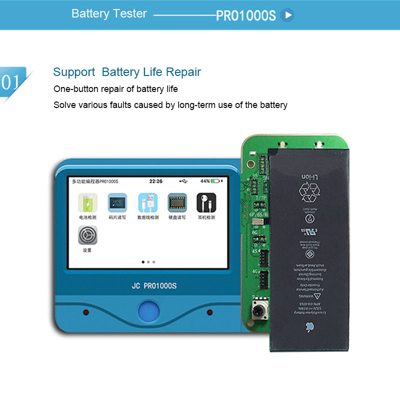 JC Pro1000S Battery Test detection diagnostic module For iPhone 5S 6 6P 6S 6P 7 7P
