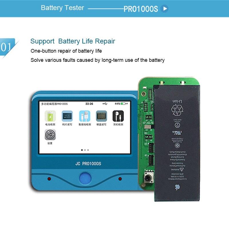 JC Pro1000S Batterie Test erkennung diagnose modul Für iPhone 5S 6 6P 6S 6P 7 7P 8 8P X Lesen/Schreiben Batterie informationen-in Elektrowerkzeug-Sets aus Werkzeug bei AliExpress - 11.11_Doppel-11Tag der Singles 1