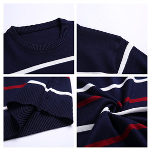 Image 5 - Pullover Men Brand Clothing 2020 Autumn Winter Wool Slim fit Sweater Men Casual Striped Pull Jumper Men