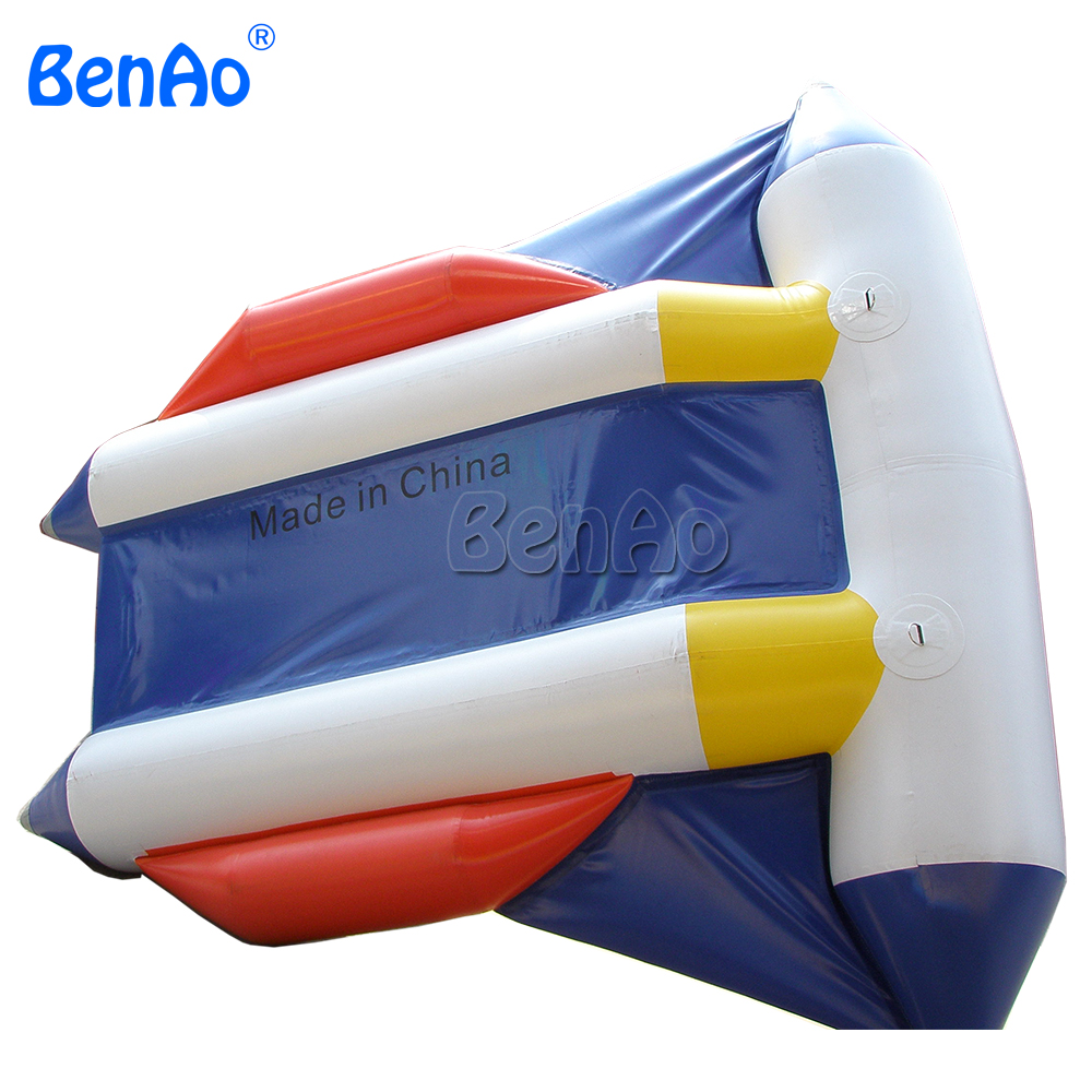 B017 BENAO 2 person  PVC Water toys crazy giant inflatable water park flying banana boat fly fish towables summer hot selling inflatable water sport flying inflatable crazy ufo for sale water ski tube