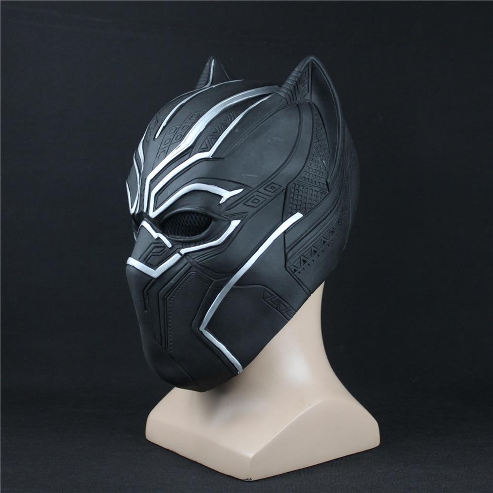 Black Panther Maschere Captain America Guerra Civile Ruoli Cosplay Lattice Maschera Casco Halloween Per Adulti Realistiche Puntelli Del Partito In Magazzino