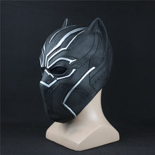Black Panther Masks Captain America Civil War Roles Cosplay Latex Mask Helmet Halloween Realistic Adult Party Props In Stock(China)