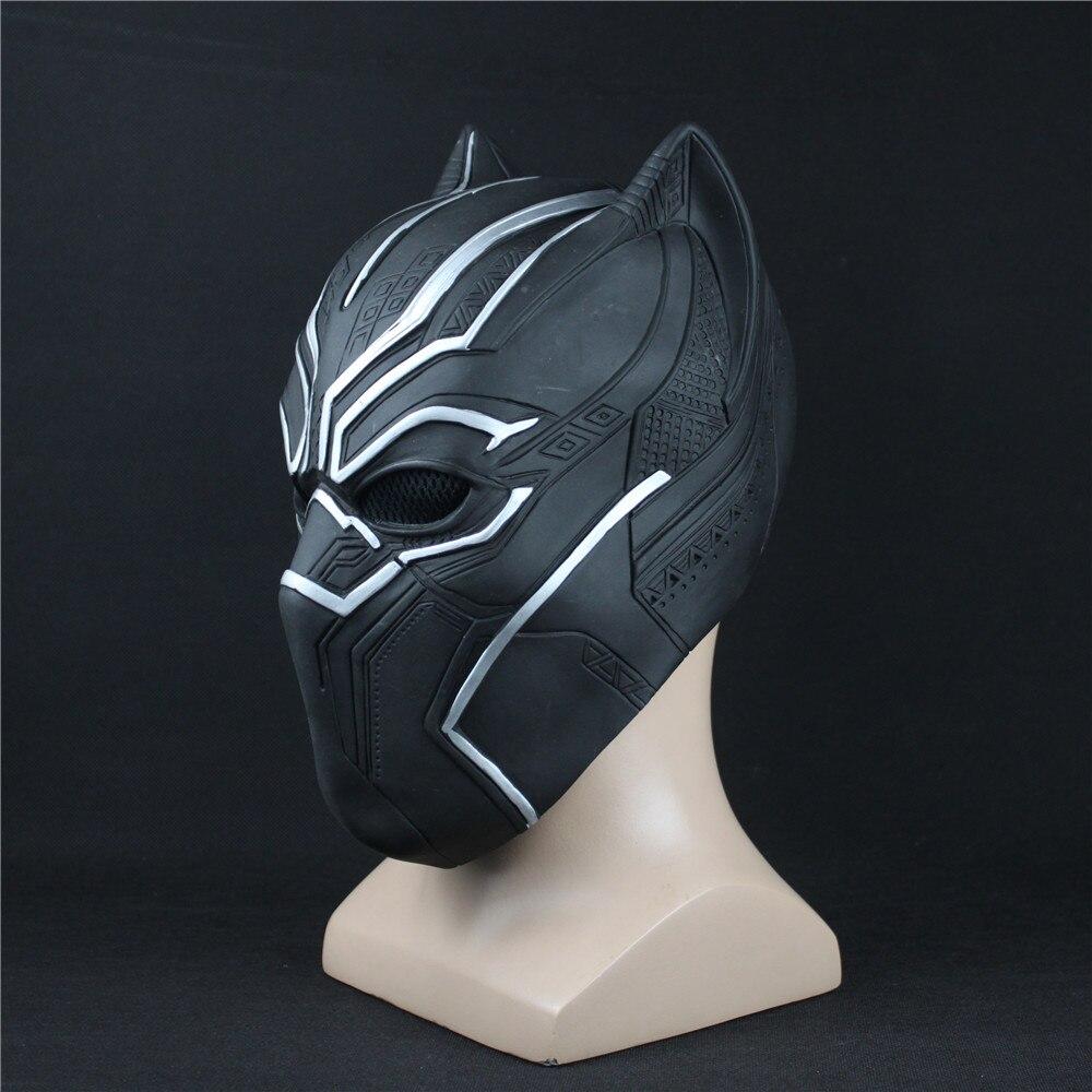 Panthère noire Masques Captain America Guerre Civile Rôles Cosplay Latex Masque Casque Halloween Réaliste Adulte Décors De Fête En Stock