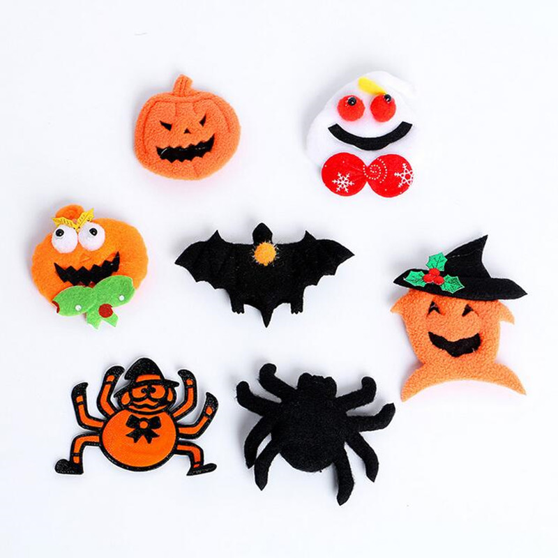 Pumpkin Ghost Spider Light-Up Cartoon Badge Falhing  Brooches For Kids Adults  Party   Halloween Christmas