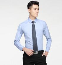 High quality men's shirts lapel suit long-sleeved shirt custom pure color business formal men's shirt office professional shirt