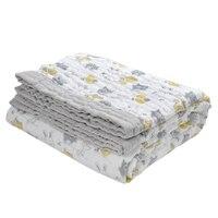 120 160cm Muslin Blankets Babies Swaddling 100 Cotton 3 Layer Animal Printed Blankets Newborn Baby Swaddle