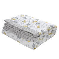 120 160cm Muslin Blankets Babies Swaddling 100 Cotton 3 Layer Animal Printed Blankets Newborn Baby Swaddle