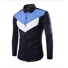 Free delivery shirt Men s long sleeved shirt irregular pattern casual shirt brand Stitching long sleeved