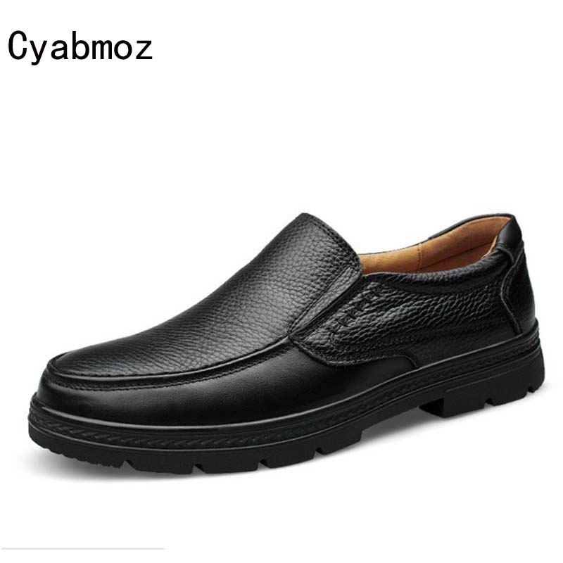Cyabmoz Brand Big Size 38-47 Fashion Handmade Genuine leather men Flats,Soft leather Male Moccasins,man High Quality Men Shoes relikey brand men winter loafers high quality handmade genuine leather shoes soft driving male flats casual moccasins for men