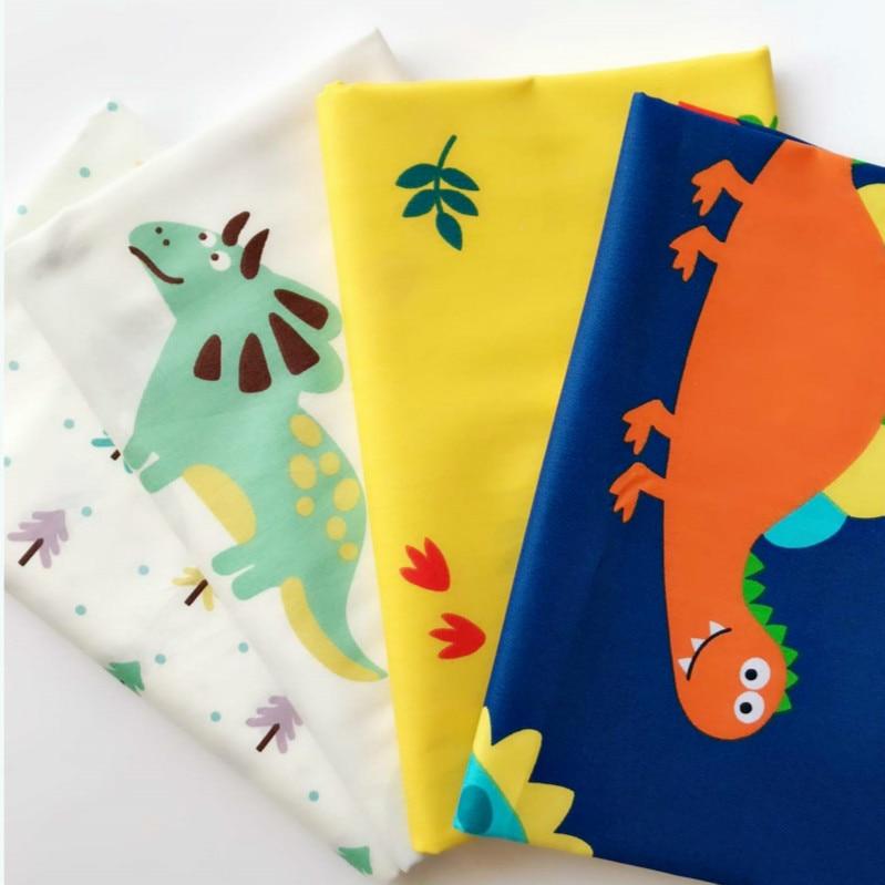 dinosaur cartoon cotton printed fabric childrens bedding quilt handmade by half meter