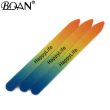 BQAN 3 шт. градиентные наждак, пилка для ногтей для гелевых ногтей Professional разделитель для маникюра педикюр двухсторонний набор de limas инструменты для ногтей