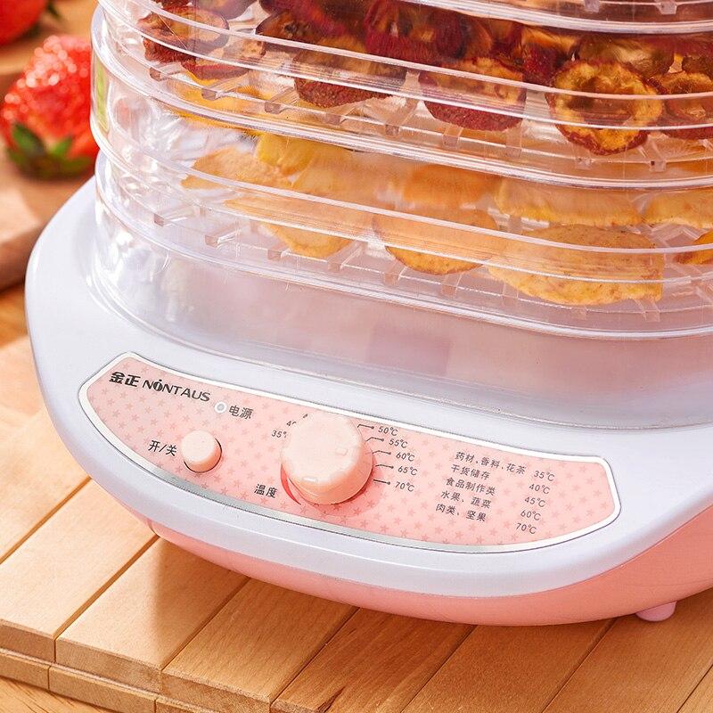 Rose 5 couches électrique intelligent déshydrateur Machine Mini détachable Multi fruits nourriture sèche Pet viande Visible matériel Air séchage outil - 3