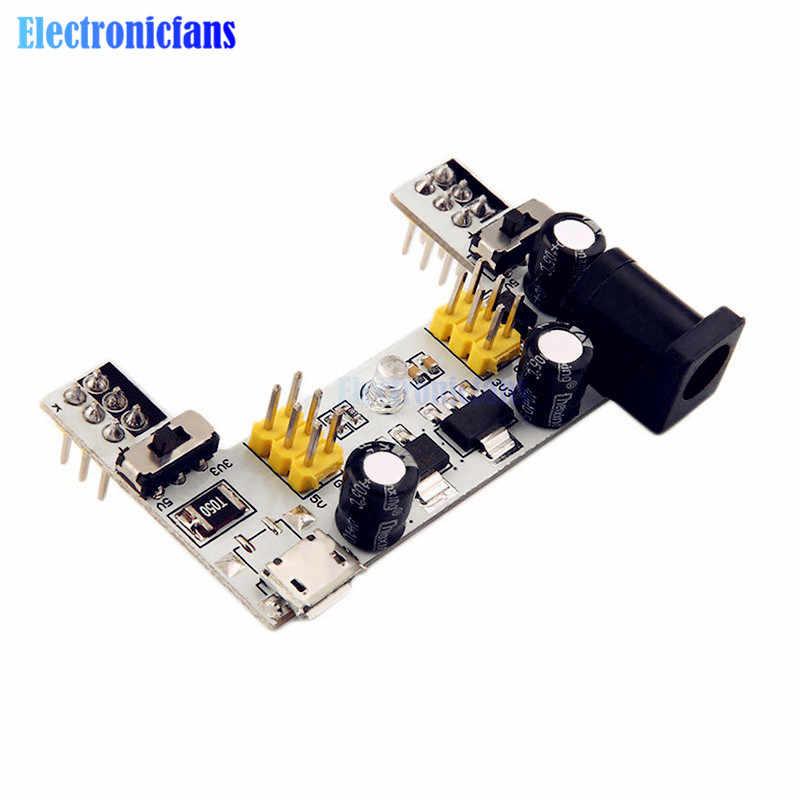 MB102 DC 7-12V Micro USB Interface Breadboard Power Supply โมดูล MB-102 โมดูล 2 Channel BOARD สำหรับ Arduino