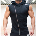 2016 New Men Hoodie Gym Brand Sweatshirts Fitness Workout Sports Sleeveless Tees Shirt Cotton Vest Singlets Hooded Undershirt