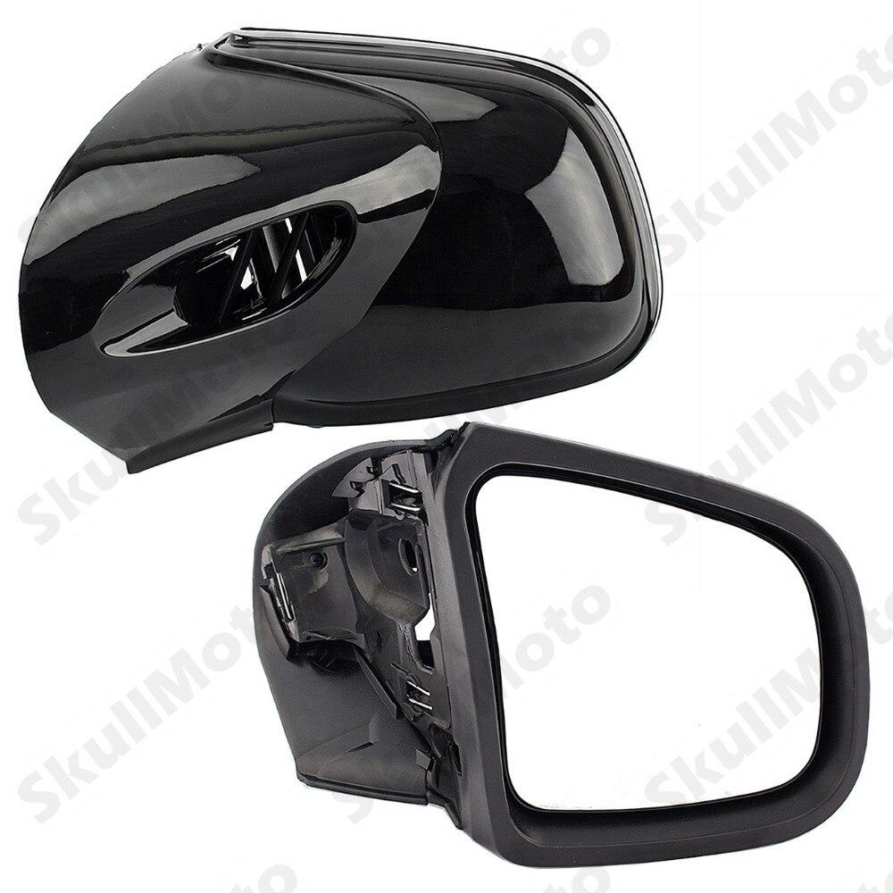 Мотоцикл Запчасти черный глянец мотоциклетные заднего вида сбоку Зеркала для BMW K1200 LT K1200M 1999 2000 2001 2002 2003 2008 определено