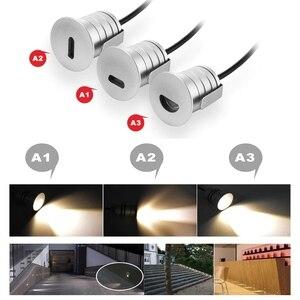Image 3 - 6 ADET 1W LED Gömme Led merdiven lambası DC12V Kapalı Köşe Duvar Işıkları Su Geçirmez Adım Dekorasyon Lambası Koridor Merdiven Lambaları