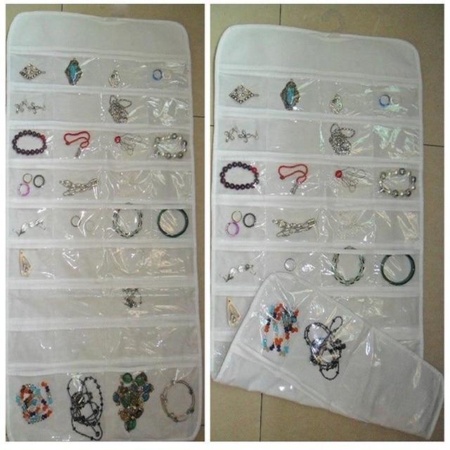72 Unit Pocket Storage Bag Case Holder Double Sided Hanging Jewelry
