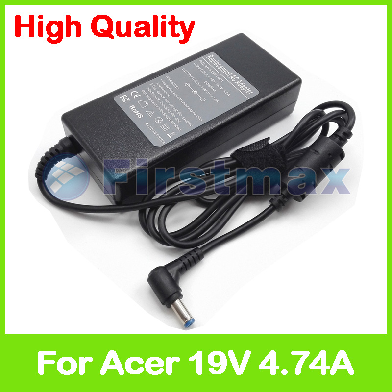 19V 4.74A 90W laptop charger ac power adapter for Acer TravelMate 4050 4051 <font><b>4052</b></font> 4053 4060 4061 4062 4064 4070 4080 4100 4101 image