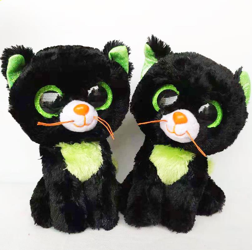 "15cm Ty Beanie Boos Collection Big Eyes 6"" Halloween Green"