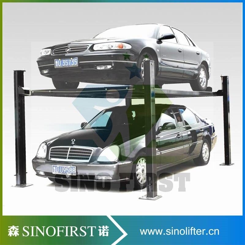 Новый дизайн безопасный Электрический гараж лифт система хранения 4 пост домашний гараж автомобильный Лифт