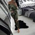 Плюс бархат размер без бретелек женщины комбинезон мода классический высокое качество отверстие комбинезоны Европейский стиль тощие девушки трико K58