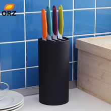 ORZ Kitchen Knife Holder Stand PP Ceramic Knife Block Kitchen Tools Cooktop Organizer Cooking Accessories Storage Holder Rack