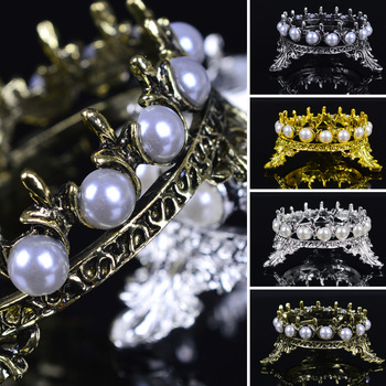 2017 New Arrival High Quality Crown Inlaid Pearl Rhinestone Nail Pen Rack Manicure Brush Stand Holder Tool For Nail Pens