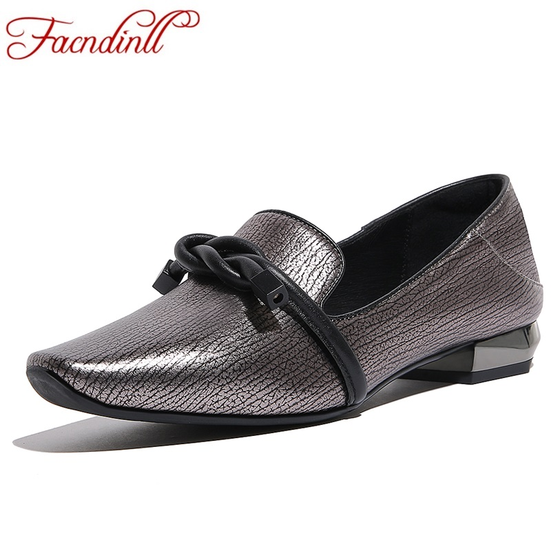 FACNDINLL new fashion women genuine leather flats shoes high quality flat heels round toe shoes woman autumn casual dress shoes spring women red shoes flat pointed toe genuine leather high 2017 new woman shoes high quality casual flats big size 41 42 43