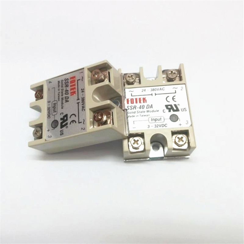20 pcs lot SSR 40DA FOTEK Single Phase Solid State Relay 40A DC control AC SSR40DA