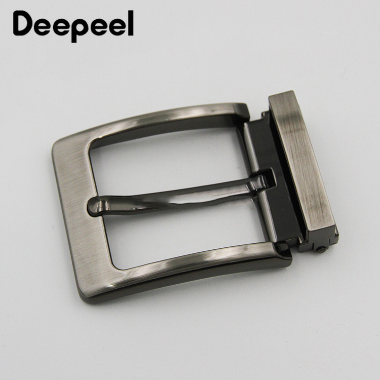 Meetee 40mm Pin Belt Buckle Men's Metal Clip Buckle DIY Leather Craft Jeans Accessories Supply For 3.8cm-3.9cm Wide Belt AP034