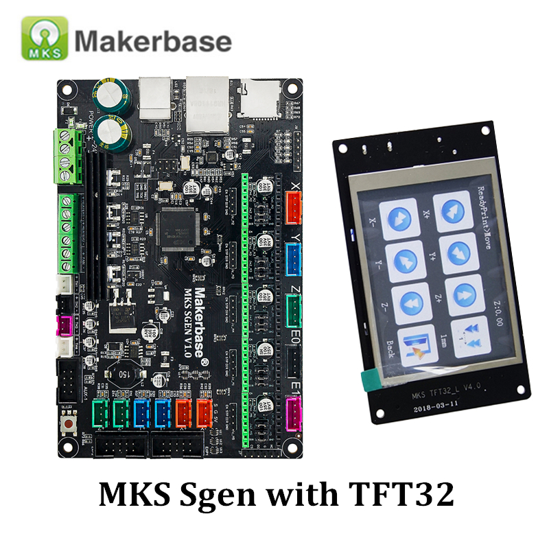 3D Printer Parts Smoothieboard MKS SGen Controller Board Smoothiewaere with MKS TFT32 V4 0 Touch Screen