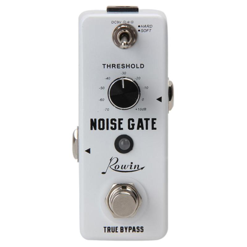 1/4Monaural Jack DC 9V 26mA Hard/Soft 2 Working Modes Noise Killer Guitar Noise Gate Suppressor Effect Pedal