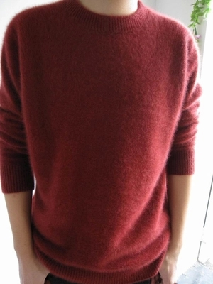 Autumn And Winter Sweater Male Mink Men Casual Plus Size Marten Velvet Sweater Solid Color Cashmere Sweater