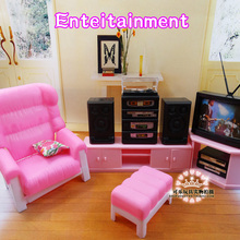 New arrival Doll Furniture living room TV Accessories For barbie Doll Christmas/Birthday Gi