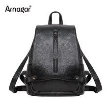 Arnagar из натуральной кожи женщина плеча рюкзак высокое качество женский рюкзак моды ноутбук рюкзак школьные сумки для подростков