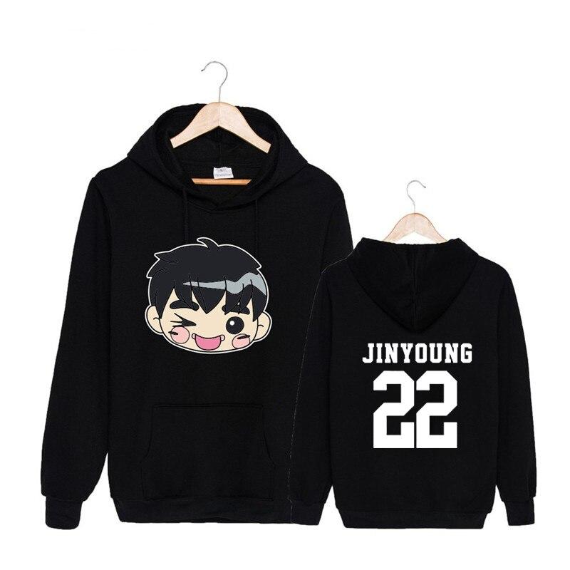 Kpop Koreanische GOT7 Q Stil Album MEIN PRAHLEREI Hey Yah ANKUNFT ABFAHRT FLY Baumwolle Hoodies Hut Pullover Sweatshirts PT493