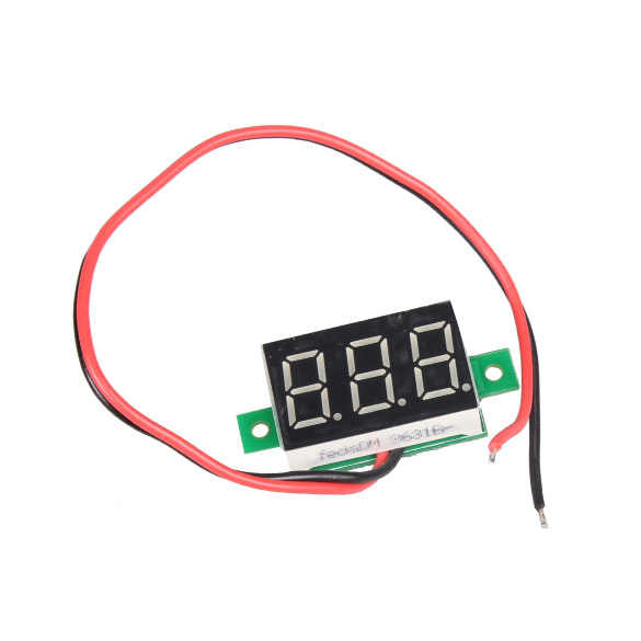 DC 2.5-30V twee-draad LCD Digitale Voltmeter Rode LED Volt Meter Gauge voltage Tester