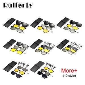 Image 3 - Ralferty רב פונקציה מגנטי מקוטב קליפ על משקפי שמש גברים נשים קל במיוחד TR90 3D צהוב ראיית לילה משקפיים