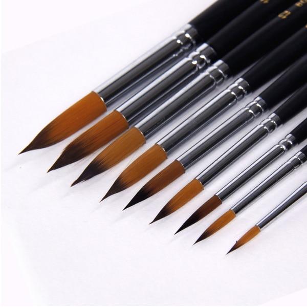 Round Paint Brush Set