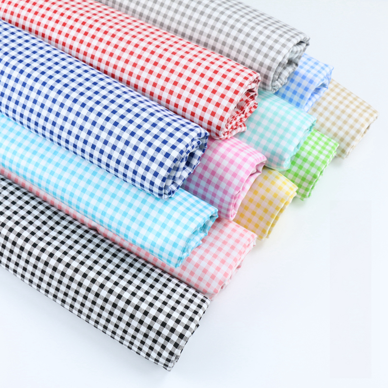 50*160cm 3mm Lattice 10 Colors Printed 100% Cotton Fabric Meters For Dresses Cushions Blanket Sewing Cloth Bed Sheet Textile D30 Low Price