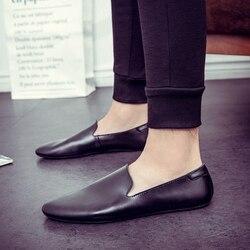 Sapatos de couro genuíno dos homens dos homens da marca de luxo casuais ao ar livre mocassins apartamentos respirável deslizamento em sapatos de barco p4