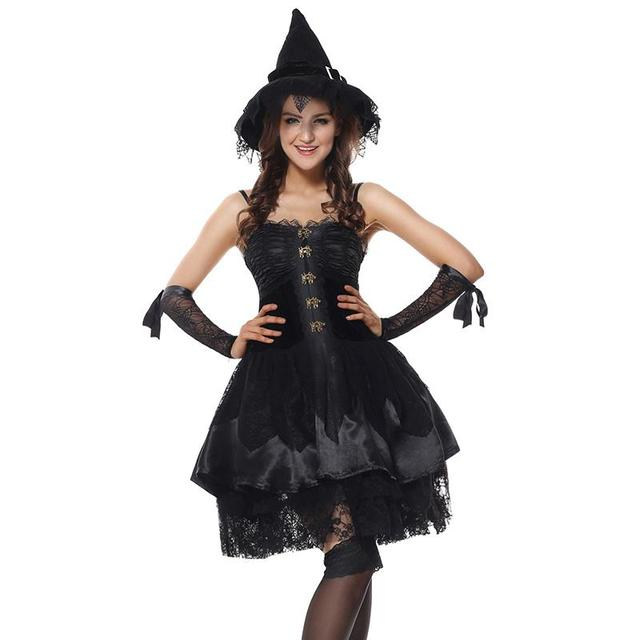 Women Black Funny Naughty Magic Moment Evil Elf Witch Fancy Dress Sexy Sorceress Costume Halloween Party  sc 1 st  AliExpress.com & Women Black Funny Naughty Magic Moment Evil Elf Witch Fancy Dress ...