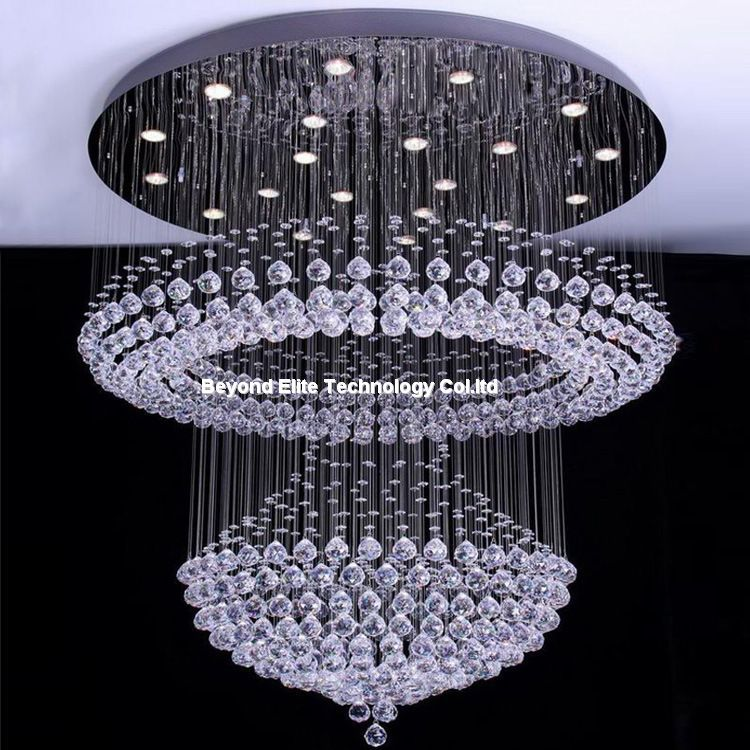Crystal Chandelier Modern K9 Chandeliers Ceiling Hotel Plafon Lamp Light Fixtures In From Lights Lighting On