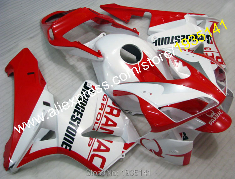 Hot Sales,Plastic Fairings For Honda CBR600RR F5 2003 2004 CBR 600 RR 03 04 Red White Body ABS Fairing Kits (Injection molding) hot sales for honda vtr1000f 97 05 1997 1999 2000 2001 2002 2003 2004 2005 vtr1000 f vtr 1000 f 1000f full red fairings