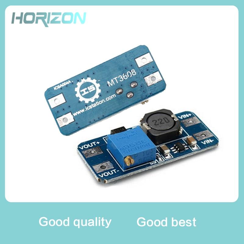 5PCS MT3608 DC-DC boost module 2A boost board Input voltage 2-24V rose 5/9/12/-28V adjustable